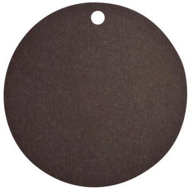 10 Marque-places en carton noirs 4,7 cm
