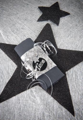 10 Marque-places en carton noirs 4,7 cm-1