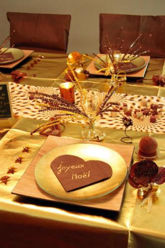 20 Petites serviettes coeur en papier chocolat 9 x 12 cm-1