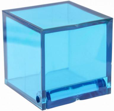 4 Boîtes cube Turquoise