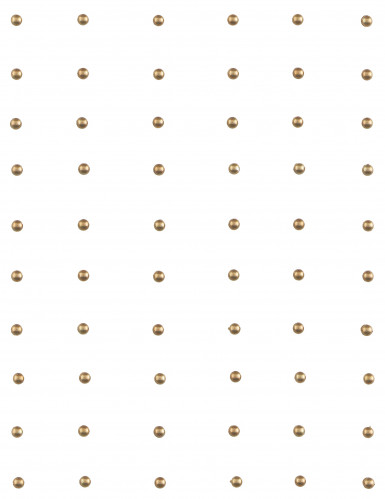 60 Perles autocollante Or