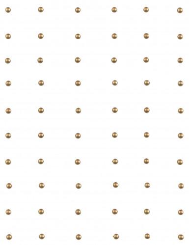 60 Perles autocollante Or-1