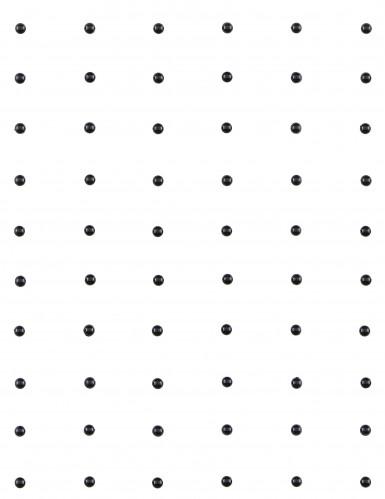 60 Perles autocollante noir 7mm-1