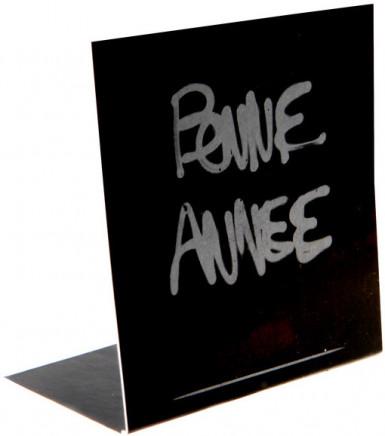 Lot de 10 marque-places Bonne Anneée Noir