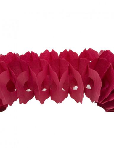 Guirlande papier bordeaux 15 cm x 4 m