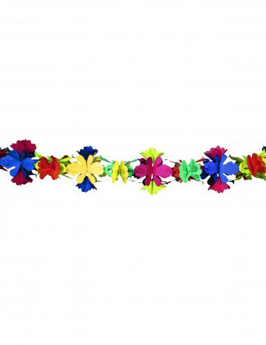 Guirlande papier fleurs 4 mètres