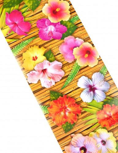 Chemin de table fleur d'hibiscus Hawaï 28 cm x 1,8 m-1