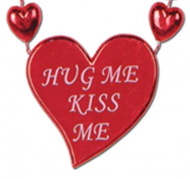 collier rouge bouches et coeurs saint valentin d coration anniversaire et f tes th me sur. Black Bedroom Furniture Sets. Home Design Ideas