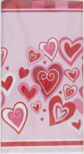 HEARTS OF JOY TABLECOVER PLAST