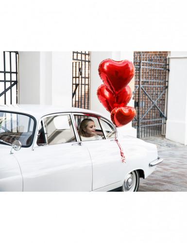 Ballon aluminium coeur rouge 60 cm-2