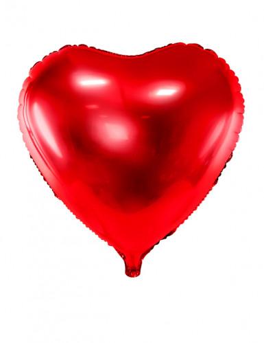 Ballon aluminium coeur rouge 60 cm