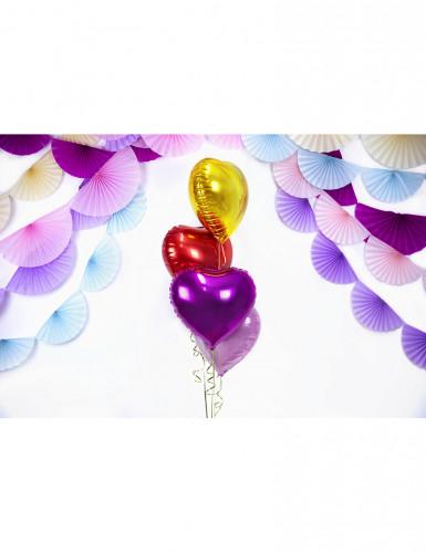 Ballon aluminium coeur rouge 60 cm-3