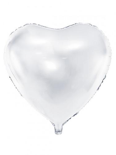 Ballon aluminium coeur blanc 45 cm