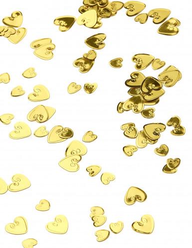 Confettis coeurs doré relief