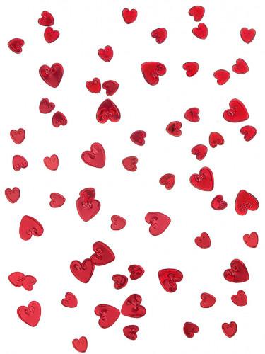 Confettis cœurs reliefs rouges 14 g