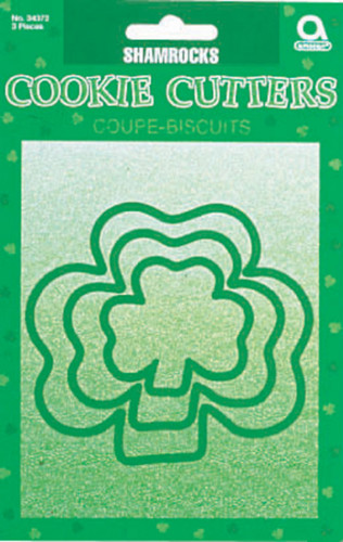 3 emporte-pièces verts trèfles