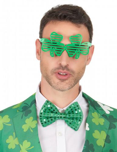 Lunettes humoristiques trèfles verts Saint-Patrick-2
