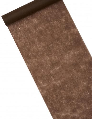 Chemin de table chocolat 30 cm x 10 m