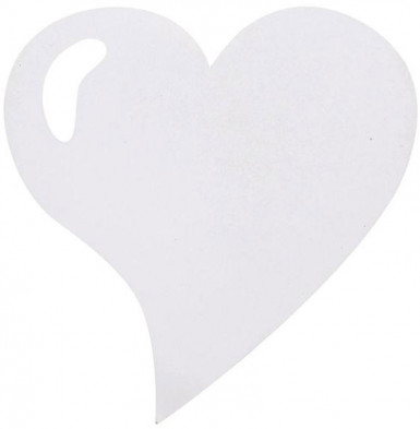 4 Sets de table coeur brillant blanc