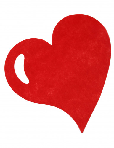 50 Sets de table coeur rouge 38 cm