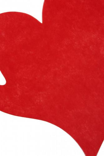50 Sets de table coeur rouge 38 cm-1