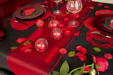 Mot en bois amour rouge pailleté 12 cm-1