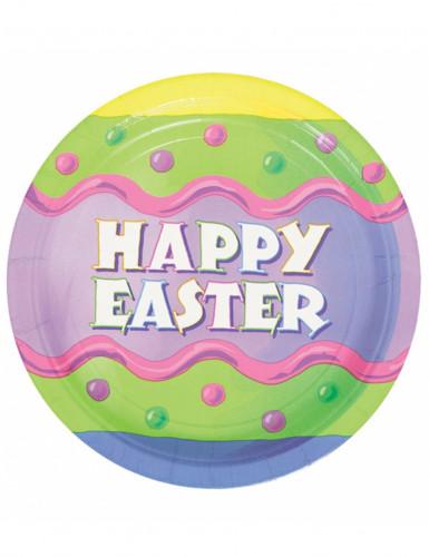 8 Assiettes en carton Happy Easter Pâques 23 cm