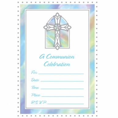 Grande cartes d'invitations bleu