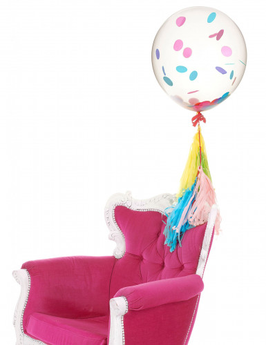 Ballon en latex transparent géant 47 cm-1