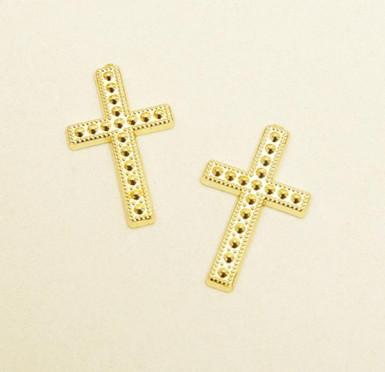 10 croix plastique Communion