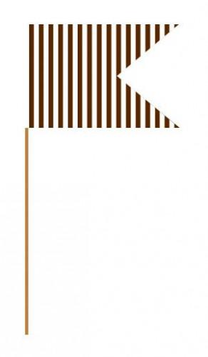 24 pics papier marron et blanc