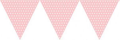 Guirlande papier rose