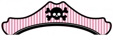Chapeau carton rose Pirate Party
