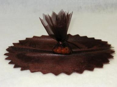 10 voiles rond brillant dragées marron