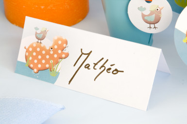 10 cartes de table carton Hippo-1