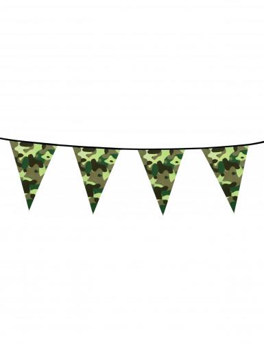 Guirlande fanions papier Camouflage 6 m