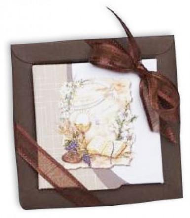 2 boîtes dragées carton Communion Florale