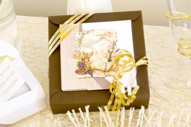 2 boîtes dragées carton Communion Florale-1