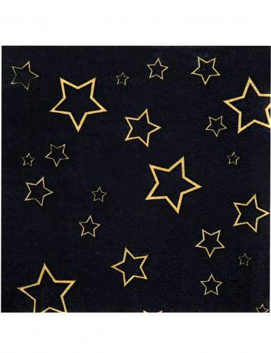 12 Petites Serviettes en papier VIP 25 x 25 cm