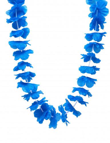 Collier hawaï bleu