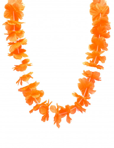 Collier hawaï orange
