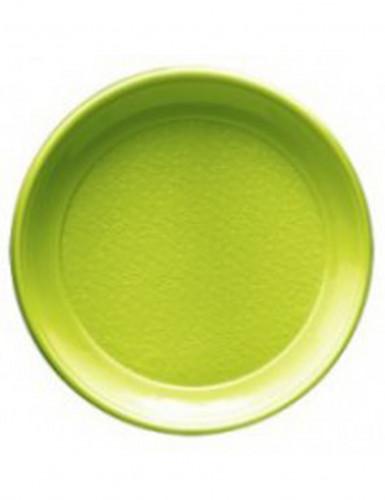20 Assiettes menthe en plastique 25 cm