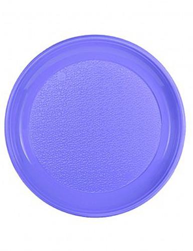 12 Assiettes parme en plastique 25 cm