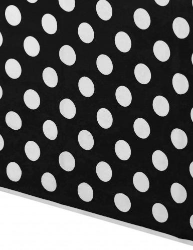 Nappe plastique noire à pois 137 x 274 cm-1