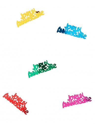 Confettis de table anniversaire multicolores-1