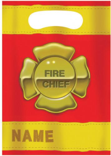8 Sacs cadeaux pompier