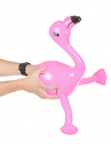 Flamant rose gonflable 60 cm-1