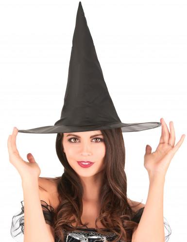 Chapeau sorcière noir 35 cm -1