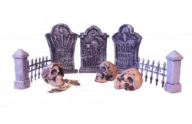 Décoration table cimetière Halloween