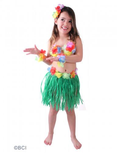 Déguisement hawaïenne verte fille